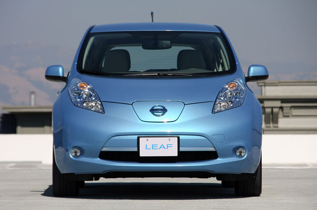 2011 Nissan Leaf electric car front view