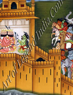 "A painting of Ravana ""King of Lanka"""