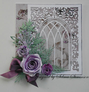 Selmas Stamping Corner And Floral Designs Grand Gothic Window