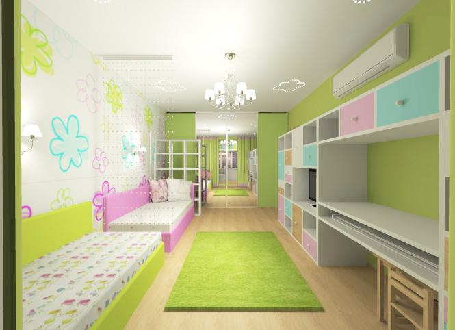 Детские комнаты дизайн для двух разнополых детей 12 кв.м своими руками