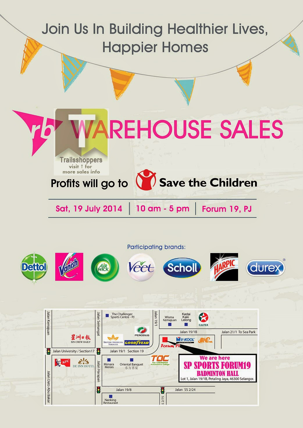 Reckitt Benckiser Warehouse Sale 2014