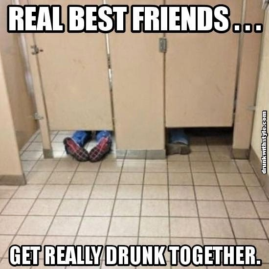 Real Best Friends Get Really Drunk Together Funny Passed Out Restroom