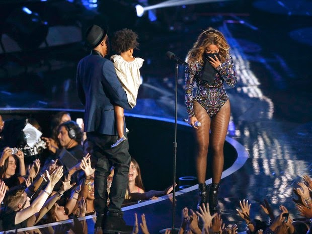 Beyoncé and Jay-Z's daughter, Blue Ivy, at the VMA