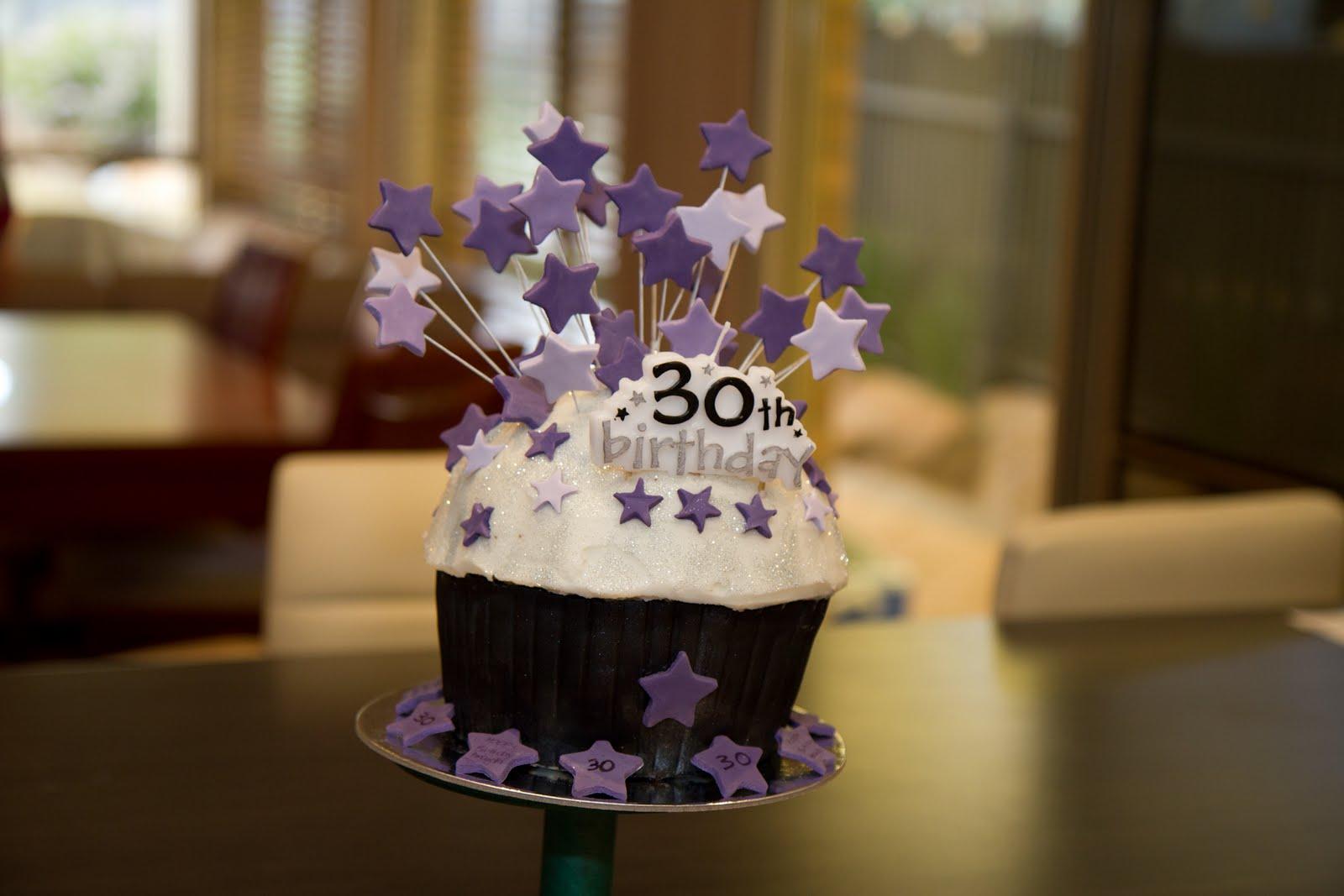 Things By Deb Amandas 30th Birthday Giant Cupcake