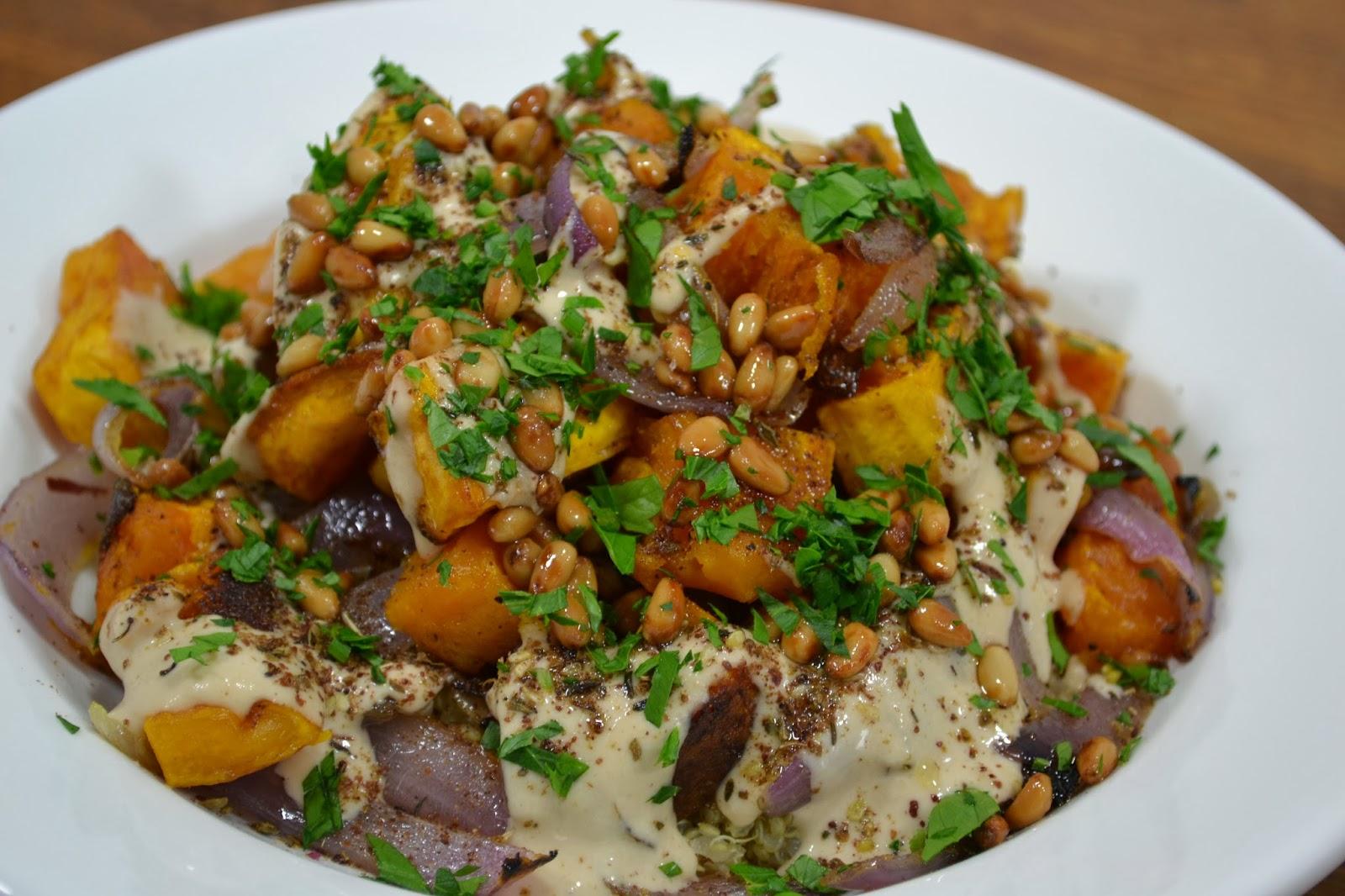 ... kumquats: Roasted Butternut Squash with Red Onion, Tahini and Za'atar