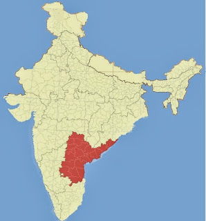 Andhra Pradesh in Indian Map
