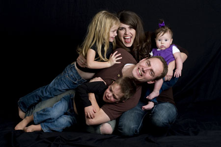 Nate, Elisa and kids