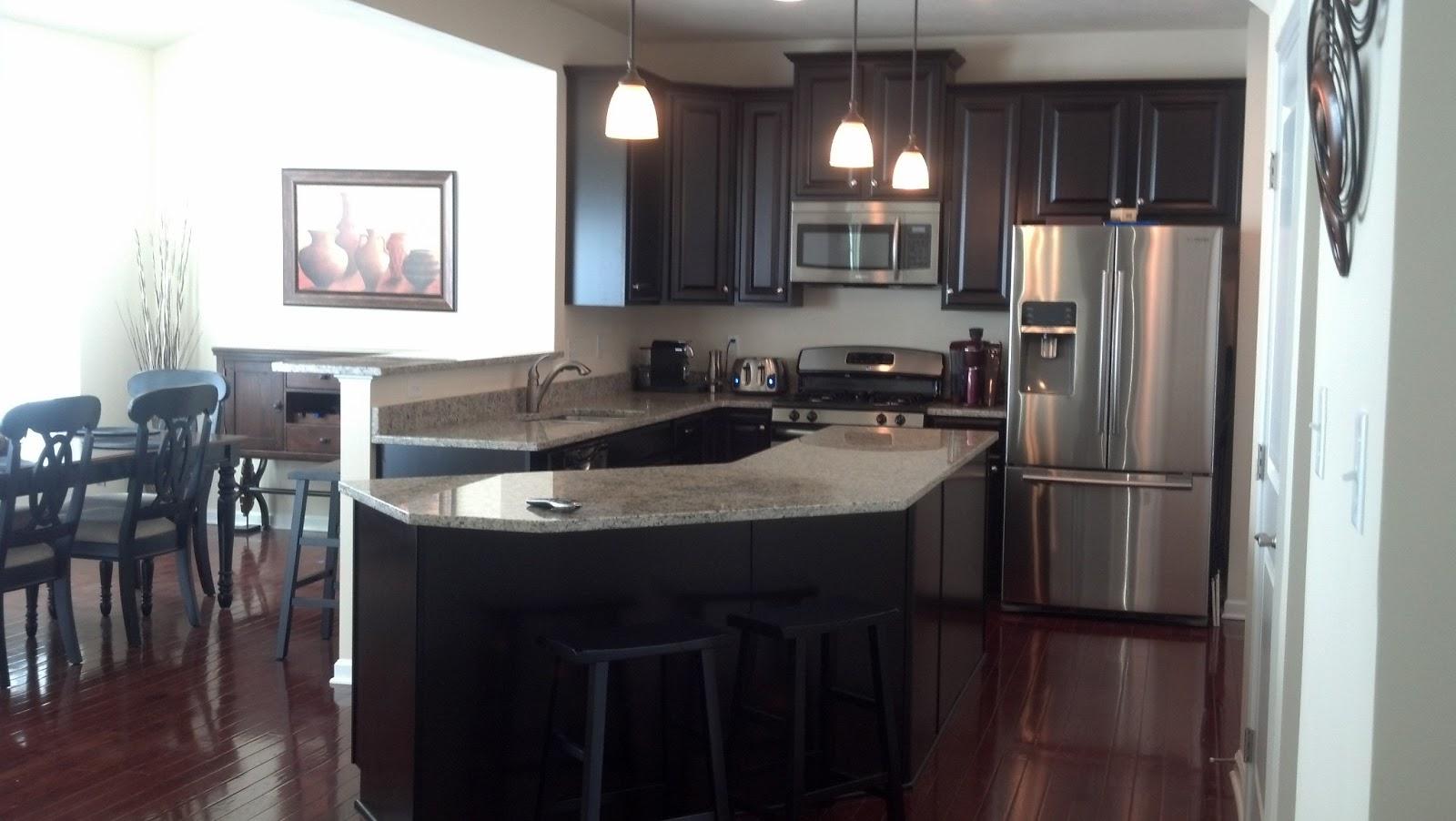 savoy ryan home kitchen pics espresso cab u0026 st cecilia granite