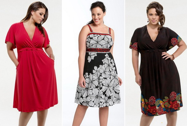 Фасоны платьев для полных девушек и