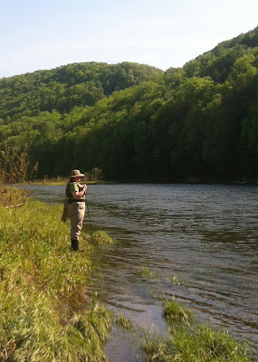 Shannon Brightman on the East branch, Delaware river, NY