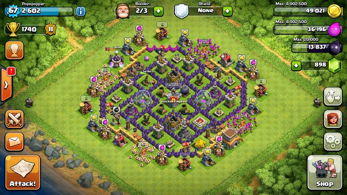 Dragonblood clash of clans the ball base th8 trophy base