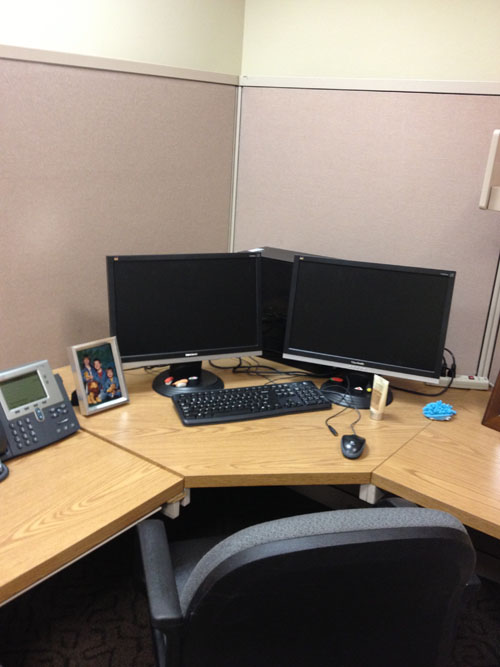 Cubicle Makeover: Before