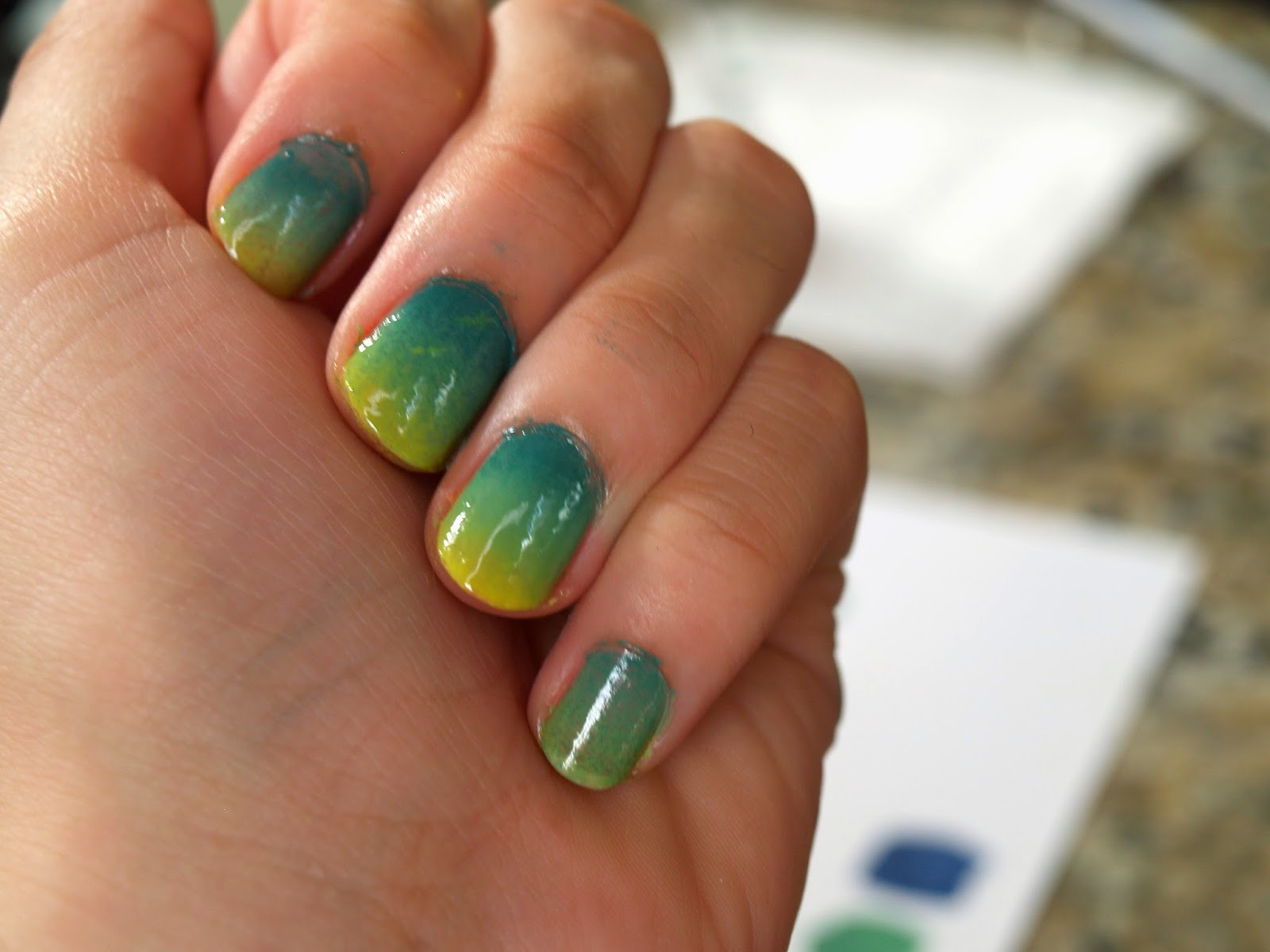 Tropical Gradient Nail Art