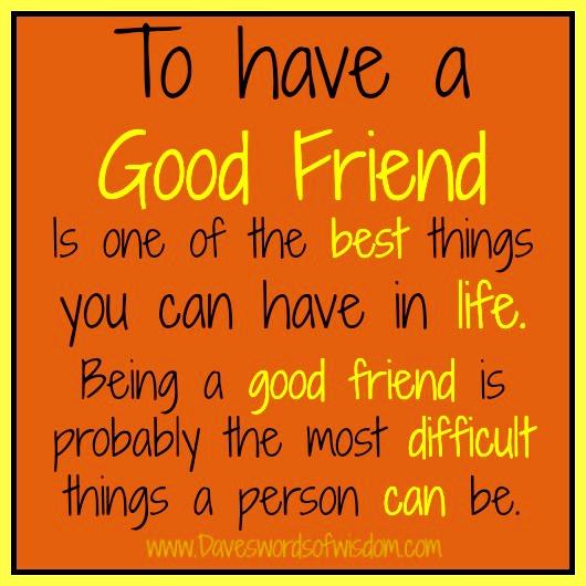 being a good friend