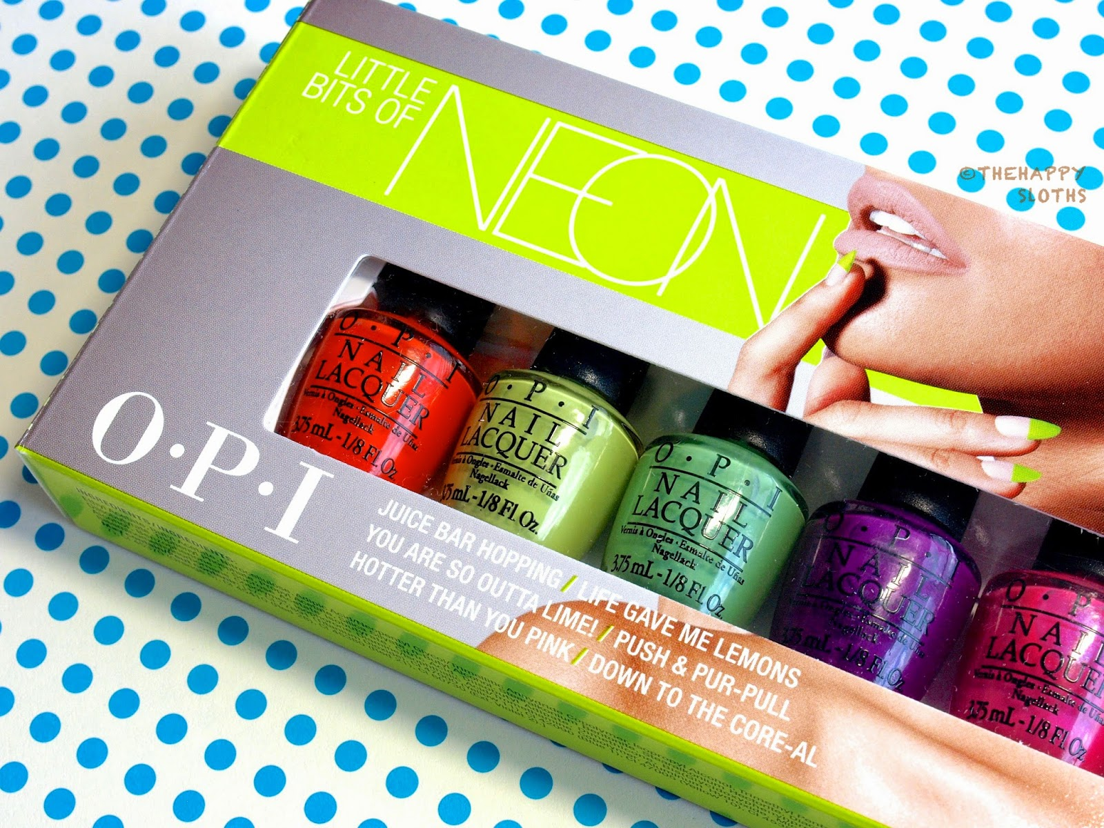 For The Upcoming Summer Months OPI Releases Six New Neon Nail Lacquers And First Time Polishes Are Not Only Available In Adorable Mini Bottles