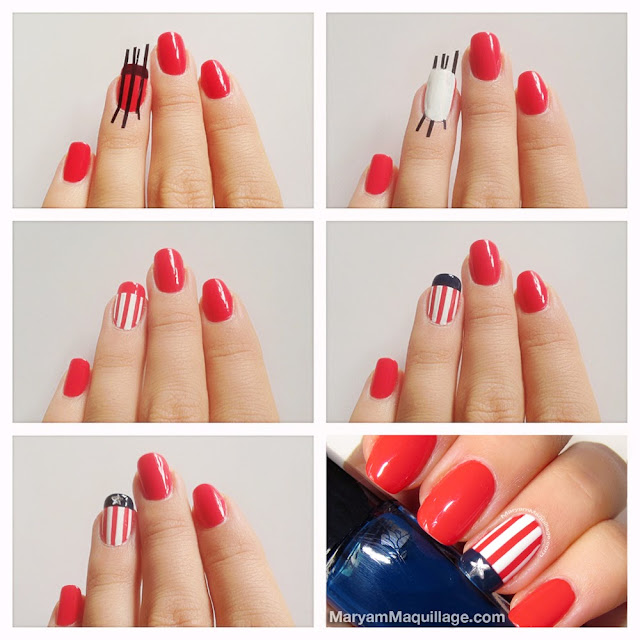 Maryam maquillage americana nail art for the fourth thursday july 4 2013 solutioingenieria Choice Image