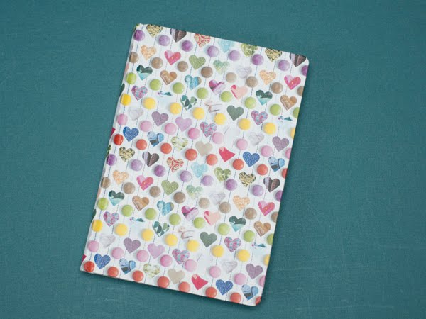 A colorfull and full of love design for a nice notebook