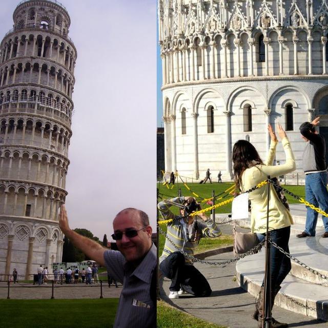Turistada y Contraturistada en Pisa