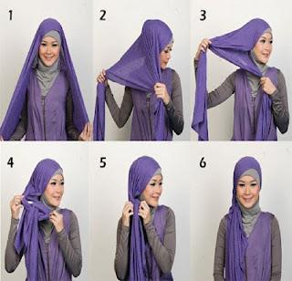 GAMBAR CARA MEMAKAI JILBAB Aneka Model Hijab Terbaru