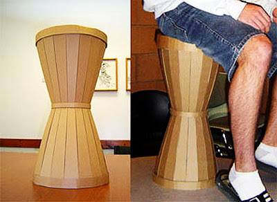 Cardboard Hourglass Seating