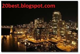 Vancouver Canada at Night Latest Photos City 2012