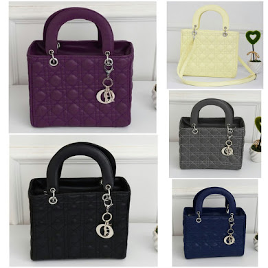 DIOR DESIGNER BAG - PURPLE , BLACK , BEIGE , GREY , BLUE