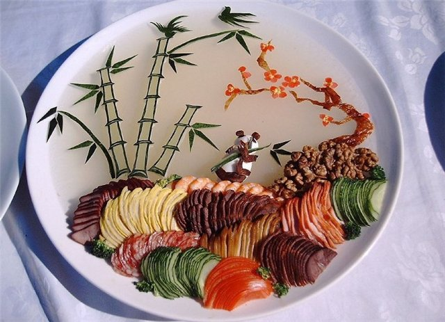 Украшение блюд в ресторанах