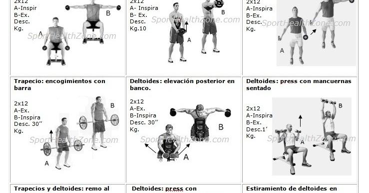 Rutinas de ejercicios entrenamiento fitness pesas for Gimnasio 8 de octubre