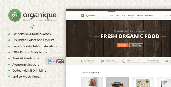 Organique - WordPress Theme free download