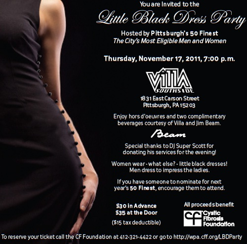 Little Black Dress Party, Cystic Fibrosis Foundation, Pittsburgh's 50 Finest, Pittsburgh