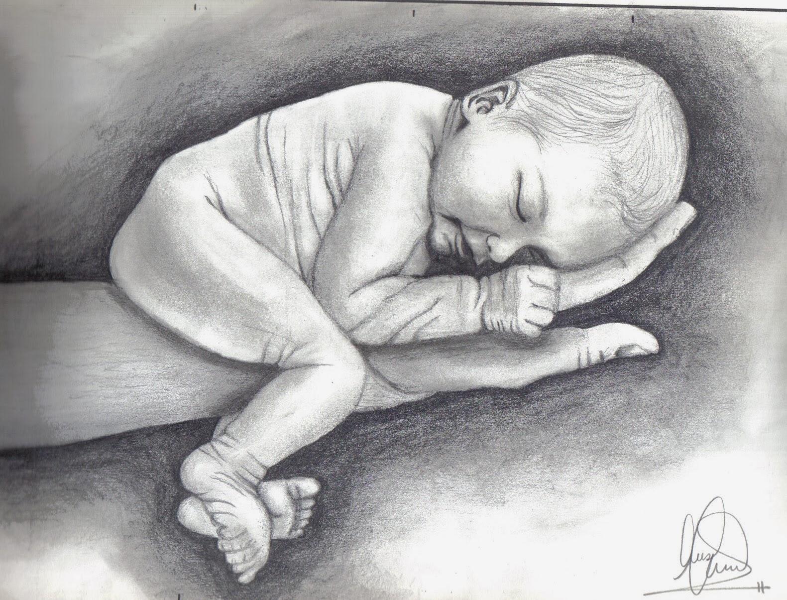Dibujos de beb con lapiz  Imagui