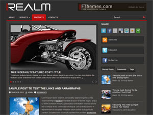 Realm Blogger template,Realm template