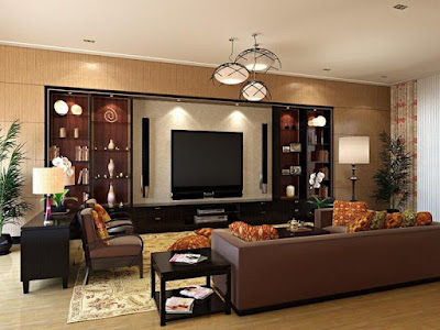 Living Room Wall Colors with Brown Furniture, A Balanced Feeling