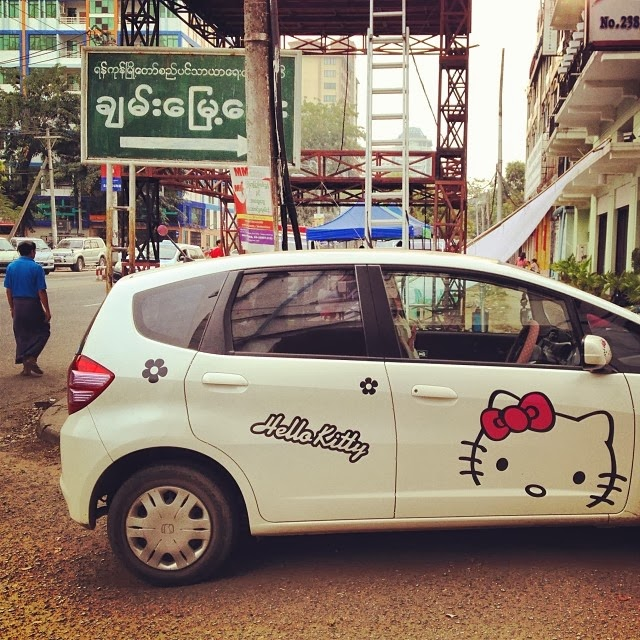 Hello Kitty in Burma.