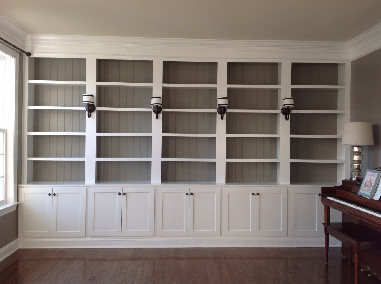 right up my alley how we built our library bookshelves. Black Bedroom Furniture Sets. Home Design Ideas