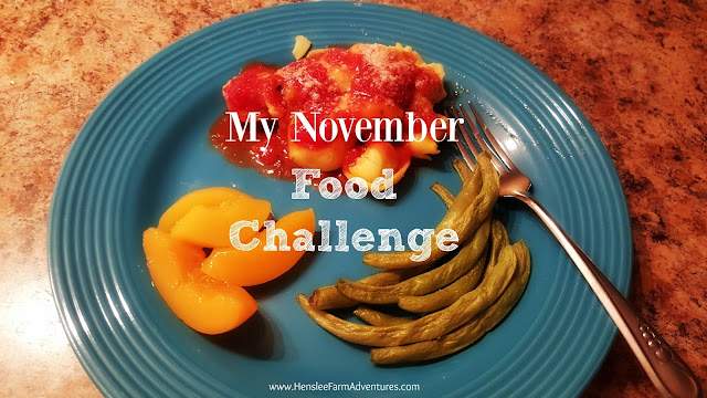 My November Food Challenge No Groceries