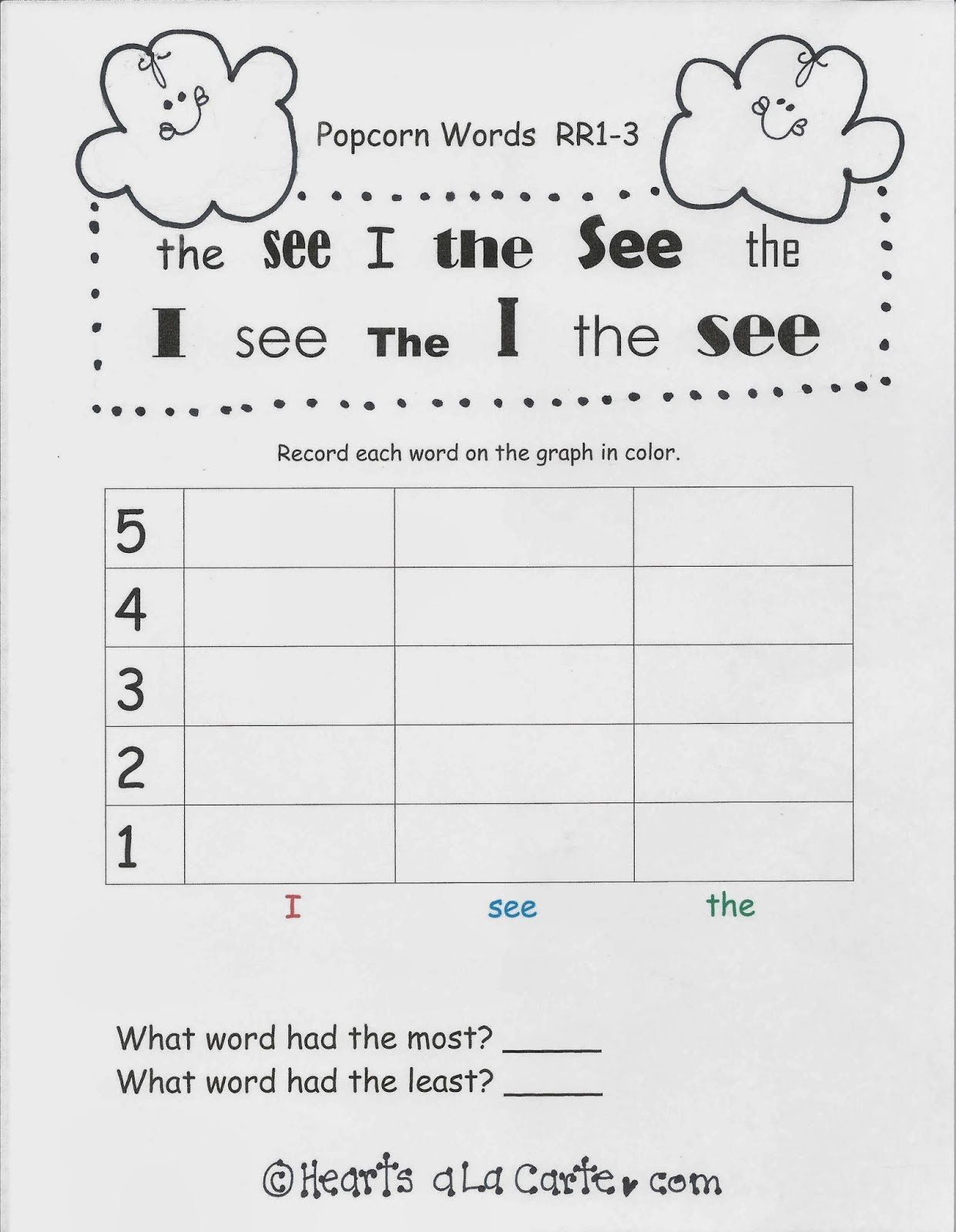 words graph - Template