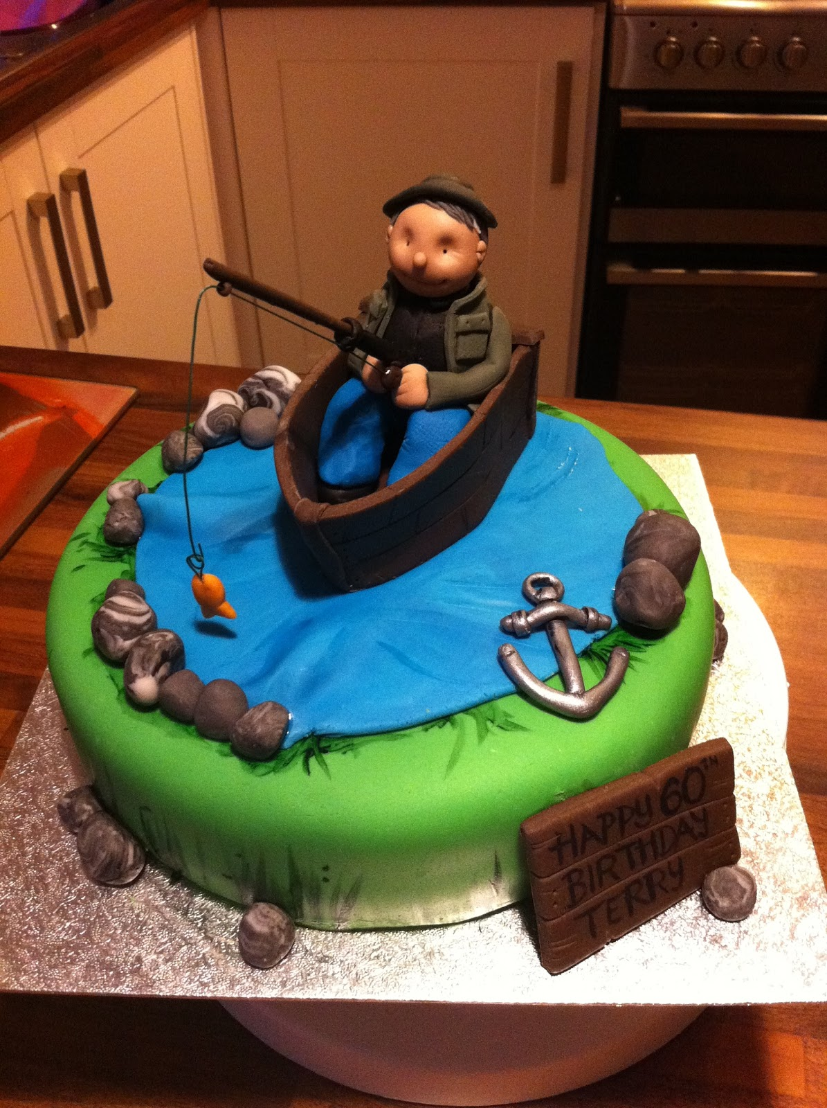 Caked in Icing Fishing Theme Cake
