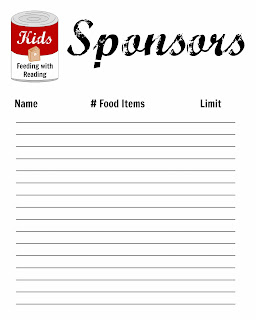 keep track of sponsors for child's charity with printable