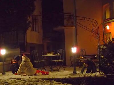 Święta bożego narodzenia, Muszna, willa Urocze, ogrody sensoryczne, zamek w Lubowli, załamanie pogody, wyjazd na święta