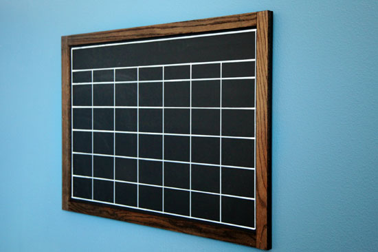 Diy Chalkboard Calendar : Iheart organizing preston s bedroom update a diy