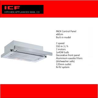 شفاط بلت ان  اي سي اف  60 سم - ICF 461(M) R60SPBKM (5206)  - hood icf
