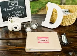 Guestbook +polaroid camera package RM200