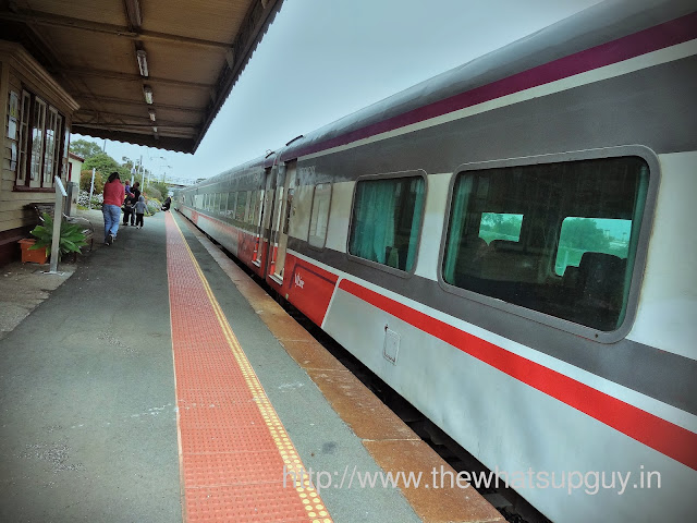 Train in Euroa Station