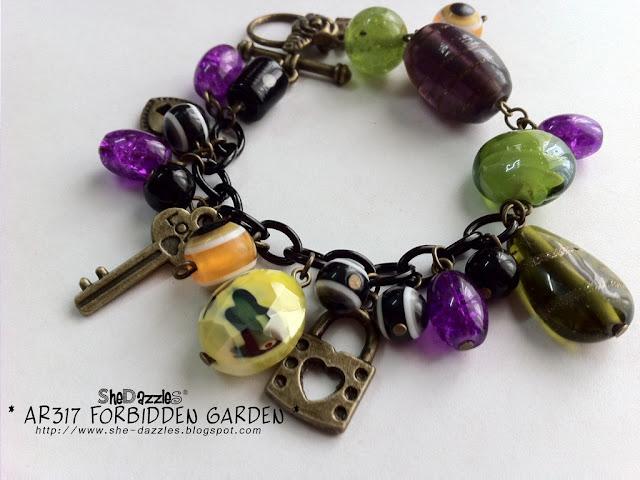 charm-bracelet-purple-green-forbidden-garden-malaysia