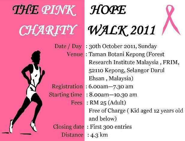 breast cancer charity walks
