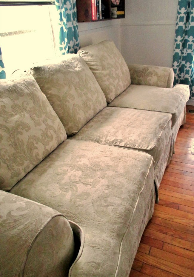 couch before reupholster