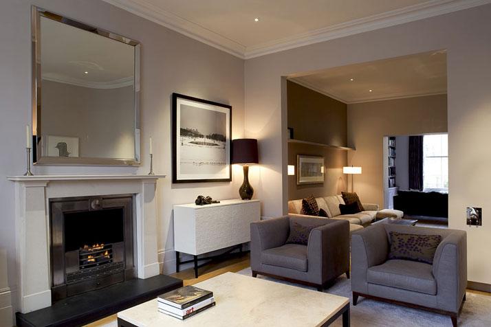 Espectaculares dise os de salas modernas ideas para - Diseno chimeneas modernas ...