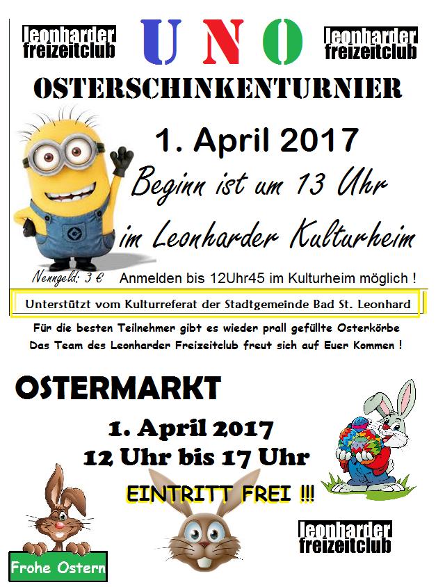 UNO TURNIER 2017 & OSTERMARKT