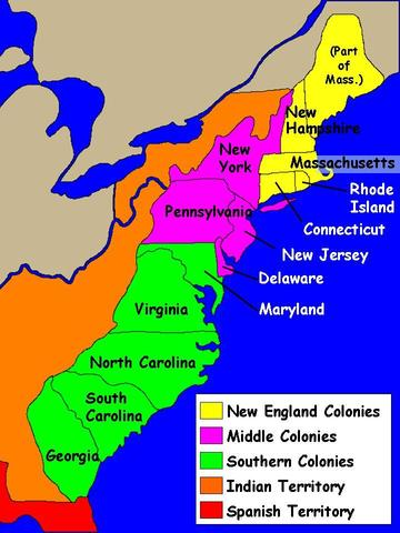"three regions of colonial america Eight of the thirteen british colonies had official, or ""established,"" churches, and in those colonies dissenters who sought to practice or proselytize a different."
